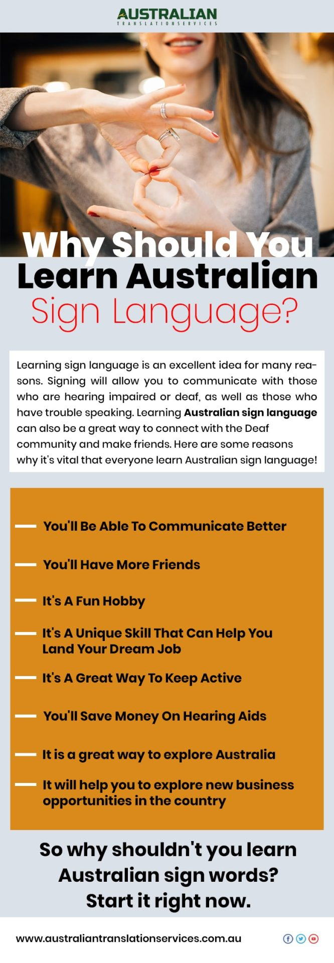 Why Should You Learn Australian Sign Language