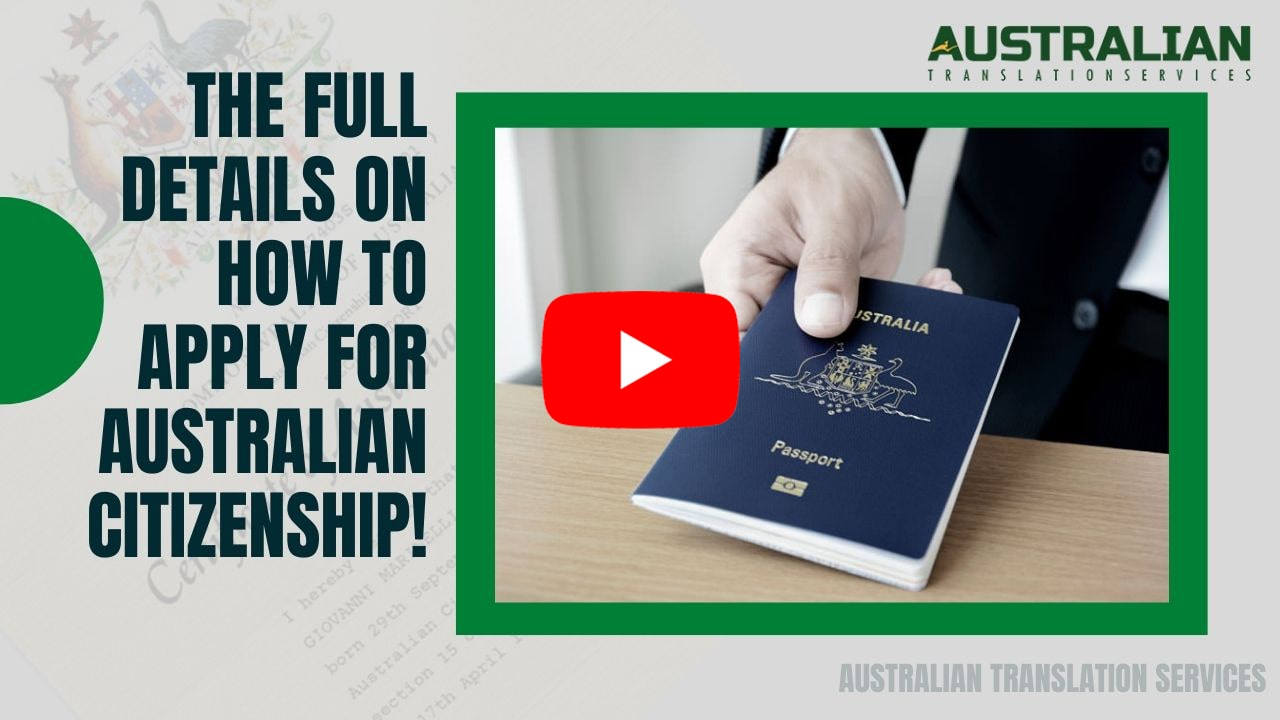 Find Out The Details About How to Apply For Australian Citizenship