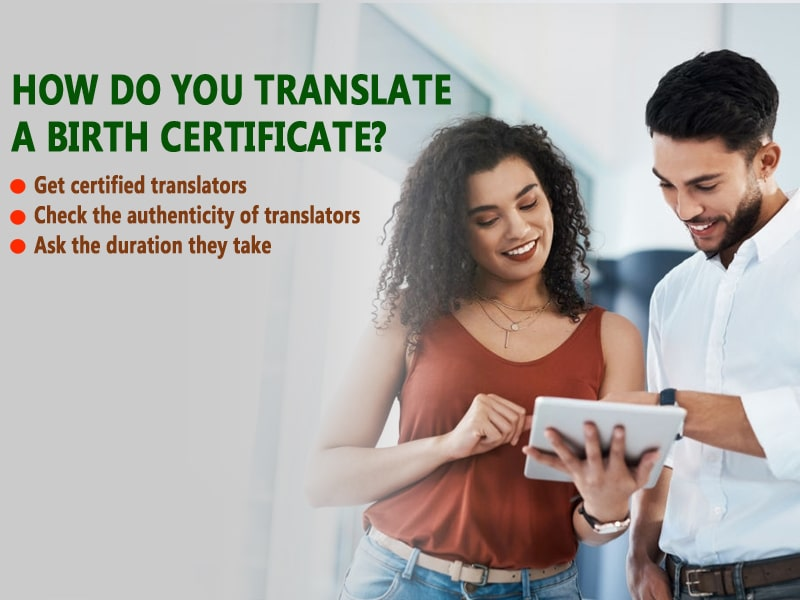 How do you translate a birth certificate?
