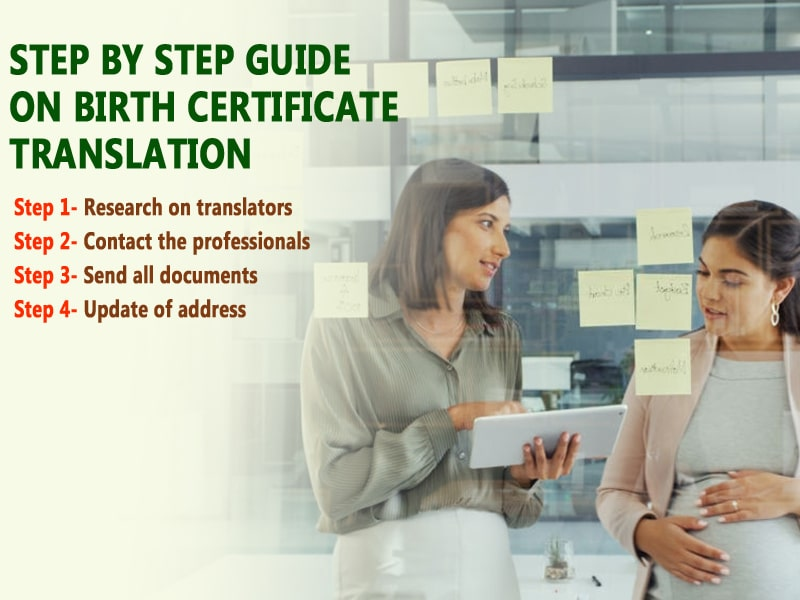Step by step guide on translation of birth certificate